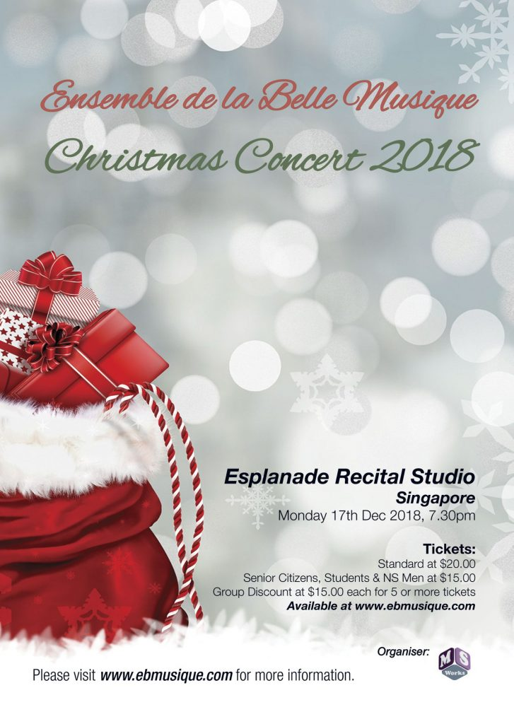 EBMusique's Christmas Concert on 17 Dec 18