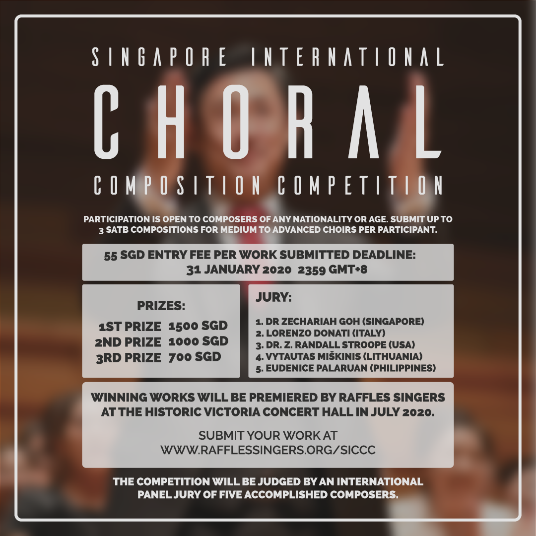 Singapore International Choral Composition Competition (SICCC) by Raffles Singers
